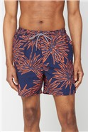 Orange Burst Print Swimshort