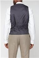 Brown Puppytooth Stretch Waistcoat