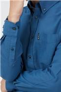 Persian Blue Organic Cotton Oxford Shirt