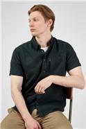 Dark Green Organic Cotton Oxford Shirt