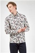 Large Ivory Paisley Print Shirt