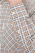Ivory Multicoloured Oxford Checked Shirt