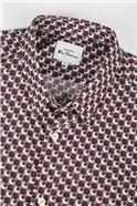 Retro '70s Coffee Geometric Print Shirt