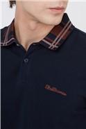 Dark Navy Collar Interest Polo Shirt
