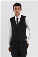 Black Slim Fit Stretch Waistcoat