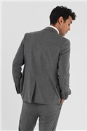 Grey Slim Fit Stretch Suit Trousers
