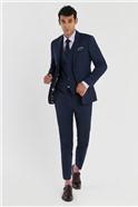 Blue Slim Fit Stretch Suit Trousers