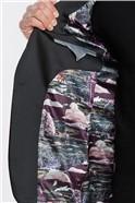 Deep Berry Slim Fit Velvet Jacket