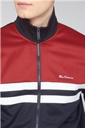 Red Navy Colour Block Tricot Jacket