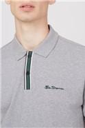 Mod Stripe Detail Polo - Grey