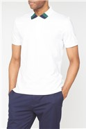 White Clean Trim Jersey Polo Shirt