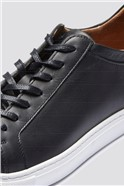 Leather Trainer in Black