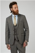 Hardwick Tan Navy Check Tailored Fit Suit Trousers