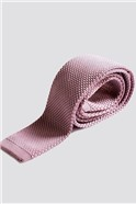 Light Pink Knitted Tie