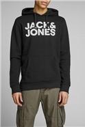JACK & JONES Black Logo Hoody