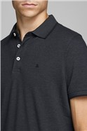 JACK & JONES Charcoal Logo Polo Shirt