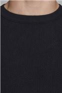 JACK & JONES Black Crew Neck Sweater