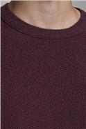 JACK & JONES Burgundy Crew Neck Sweater