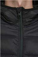 JACK & JONES Black Hooded Puffer Jacket