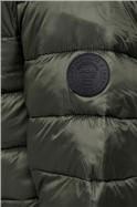 JACK & JONES Green Zip Through Puffer Jacket