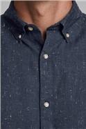 JACK & JONES Navy Button Down Shirt