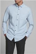 JACK & JONES Blue Melange Button Down Shirt
