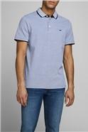 JACK & JONES Cobalt Blue Logo Polo Shirt