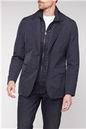 Blazer with Quilted Insert