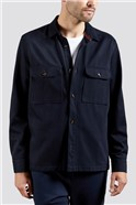 Navy Twill Overshirt
