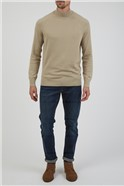Plain Stone Knitted High Turtle Neck Jumper