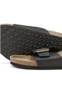 Black Sheldon Leather Slider