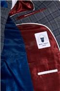 Enzo Blue Grey Check Three Piece Suit
