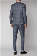 Grey and Blue Check Trousers