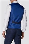 Navy and Bright Blue Check Jacket