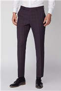 Pink and Blue Check Trousers
