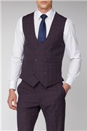 Pink and Blue Check Waistcoat