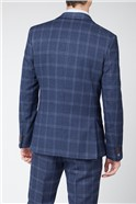 Navy Tweed with Blue Overcheck Trouser