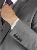 Grey Sharkskin Regular Fit Waistcoat