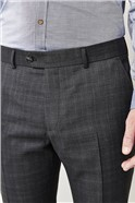 Grey Check Tailored Fit Suit Trousers