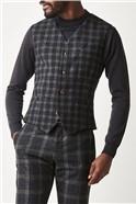 Charcoal Check Waistcoat