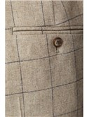 Stone Windowpane Check Trousers