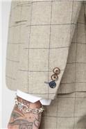 Stone Windowpane Check Waistcoat