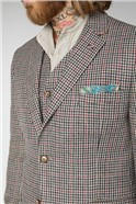 Fawn Black and Red Check Jacket