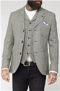 Grey Shetland Birdseye Waistcoat