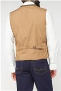 Brown Herringbone Waistcoat