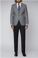 Silver Grey Tailored Fit Waistcoat