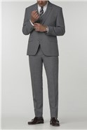 Gibson Essentials Grey Semi Plain Tailored Fit Trousers
