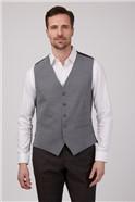 Gibson Essentials Grey Semi Plain Tailored Fit Waistcoat