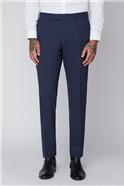 Blue Semi Plain Tailored Fit Suit