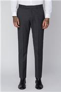 Grey Check Slim Fit Radisson Trousers